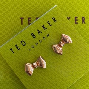 Ted Baker Baby Bow Earrings, Rose Gold